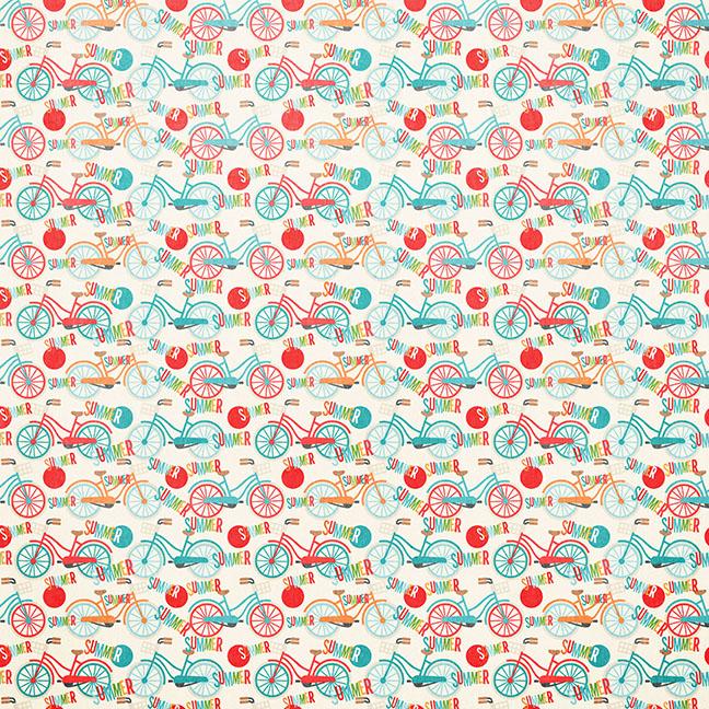 Summer Love Digital Paper Collection SVG scrapbook cut file
