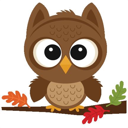 Fall Owl SVG scrapbook cut file cute clipart files for ...