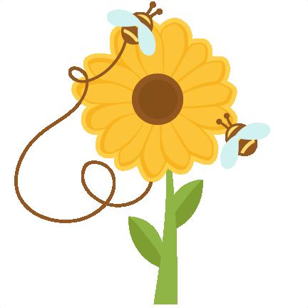 Bees on Sunflowers svg cuts scrapbook cut file cute ...