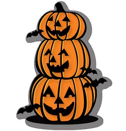 Stacked Jack O Lanterns free svg cut file free cut files ...