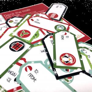 Deck the Halls - 46 Gift Tags - GTdeckthehallstags - Christmas