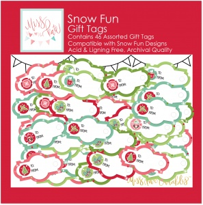 Snow Fun - 46 Gift Tags - GTsnowfun - Christmas