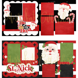 christmas santa claus pages layouts scrapbook pre-made pre made premade eve chimney presents