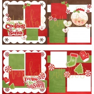 Making Cookies for Santa & Treats for Santa - Printed Layouts - PLtreatscookiesforsanta - Miss Kate Cuttables - Christmas