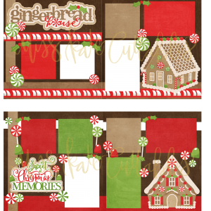 Gingerbread House & Sweet Christmas Memories - Printed Layouts - PLgingerbreadsweetchristmas - Miss Kate Cuttables