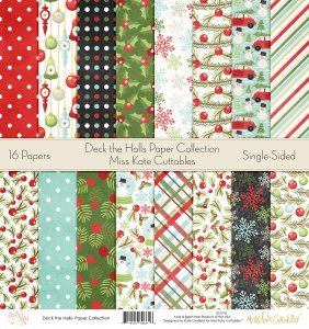 Deck The Halls - Paper Pack - PPdeckthehalls - Miss Kate Cuttables - Christmas