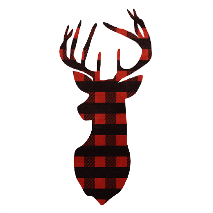 Printable Red Reindeer Head 050