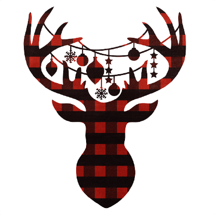 Printable Reindeer Head 050