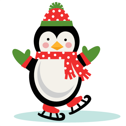 Ice Skating Penguin SVG scrapbook cut file cute clipart ...