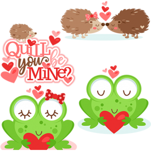 DOTD Valentine Critters 01/10/2019 - DOTD190110ValentineCritters - Sets