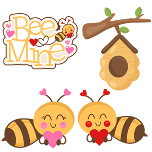 DOTD Bee Mine 01/14/2019 - DOTD190114BeeMine - Miss Kate Cuttables - Sets