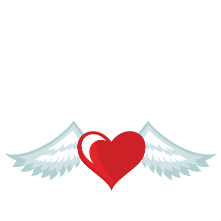 Heart With Wings Svg Cuts Scrapbook Cut File Cute Clipart Files For Silhouette Cricut Pazzles Free Svgs Free Svg Cuts Cute Cut Files