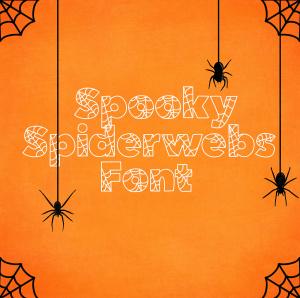 Spooky Spiderweb Halloween Font