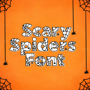 Scary Spiders Halloween Font