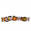Halloween SVG Scrapbook Title