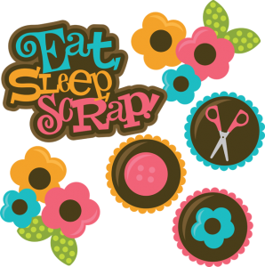Eat Sleep Scrap SVG