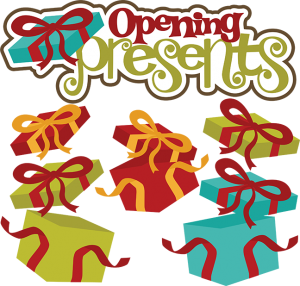 Opening Presents SVG