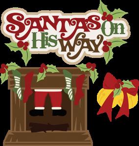 Santa's On His Way SVG