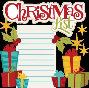 Christmas List SVG