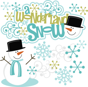 A Wonderland Of Snow SVG snow clipart cute clip art winter scrapbook svg
