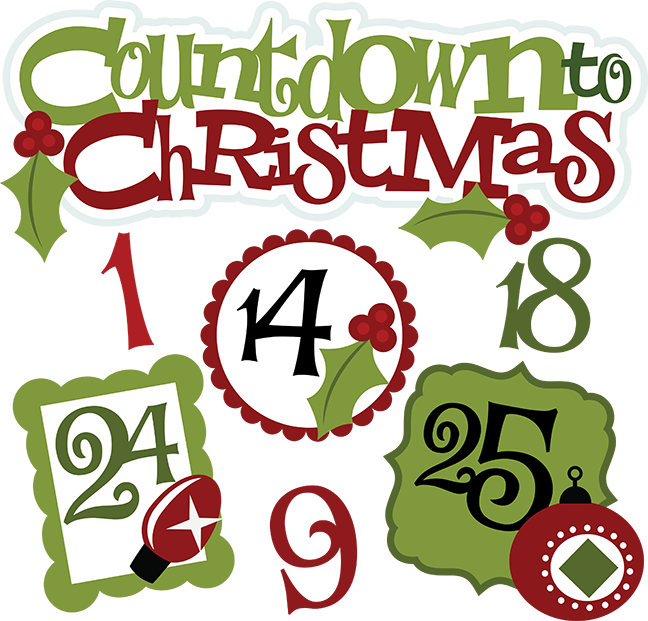 Countdown to christmas svg christmas clipart cute for 12 days of christmas table numbers