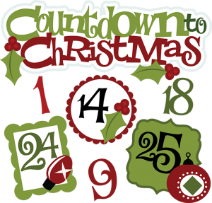 Countdown To Christmas SVG christmas clipart cute christmas clip art svg freebies