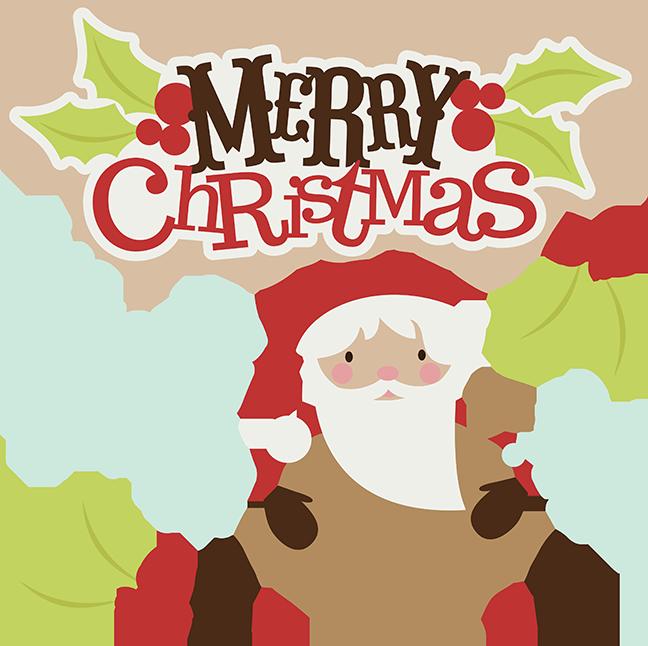 Merry christmas svg clipart santa