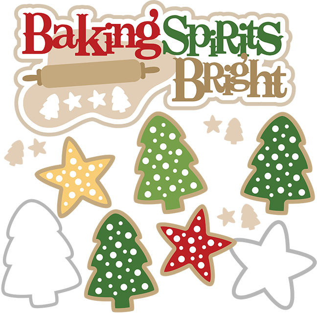 Baking Spirits Bright SVG Christmas Baking Svg Christmas