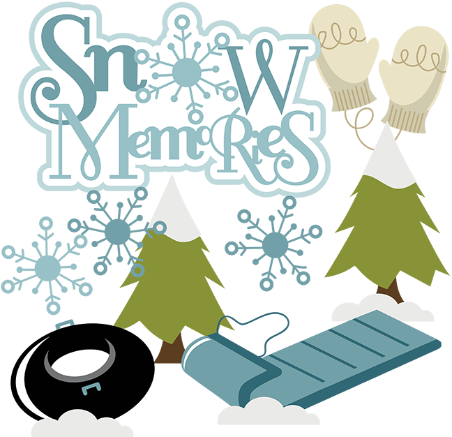 Snow Memories Svg Snow Memories Scrapbook Svg Snow Clipart Cute Snow Clip Art Cute Clip Art