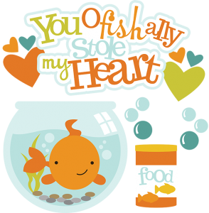You Ofishally Stole My Heart SVG fish clipart fish bowl clipart free svg files cute fish clip art