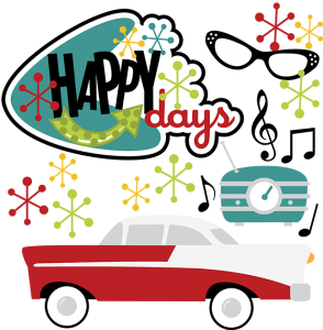 Happy Days SVG 50's svg 50's clipart 50's clip art