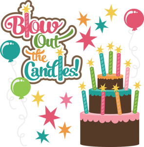 Blow Out The Candles SVG birthday clipart cute birthday clip art birthday cake svg