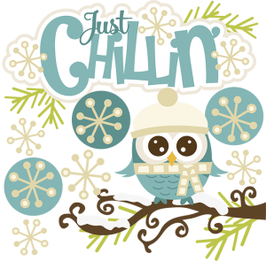 Just Chillin' SVG snow svg owl svg winter svg cute clipart cute snow clip art