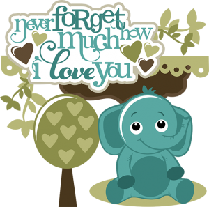 Elephant SVG elephant clipart cute clip art cute elephant clipart svg files