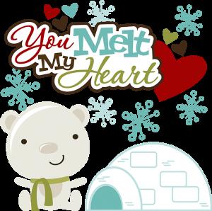 You Melt My Heart SVG polar bear svg igloo svg snowflake svg svg files for scrapbooking