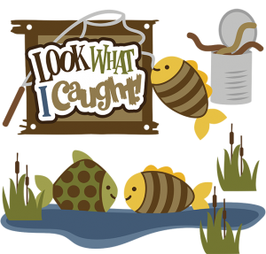 Look What I Caught! SVG fishing svg files svg files for scrapbooking camping svg files fish svg file