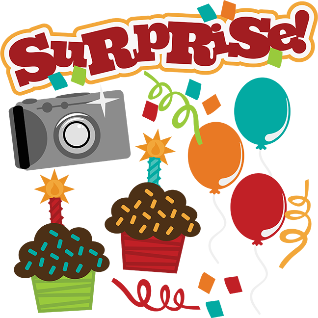 Surprise! SVG Birthday Svg File Camera Svg File Cupcake