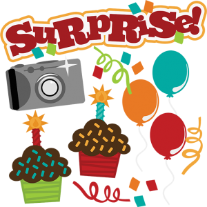 Surprise! SVG birthday svg file camera svg file cupcake svg file svg files for scrapbooking