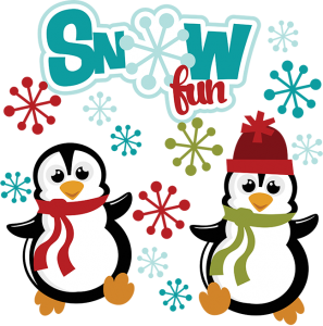 Snow Fun SVG winter svg files snow svg files penguin svg files svg files for scrapbooking
