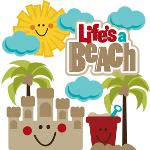Life's A Beach SVG beach svg file sandcastle svg file beach pail svg file svg files for scrapbooking