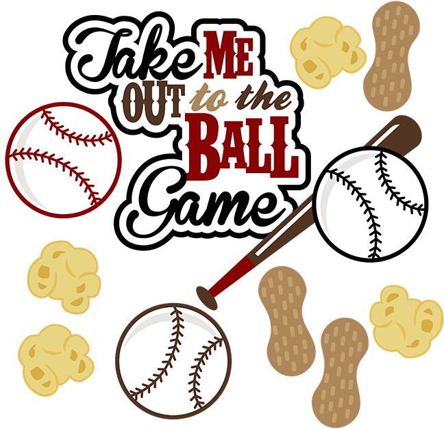 Take Me Out To The Ball Game Svg Baseball Svg File Sports