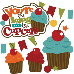 You're The Icing On The Cupcake SVG cupcake svg file birthday svg files svg files for scrapbooking free svg files