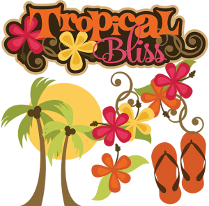 Tropical Bliss SVG tropical svg vacation svg beach svg file flip flop svg file free svgs cute clipart