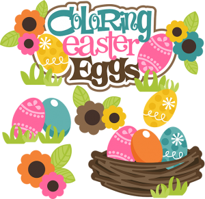 Coloring Easter Eggs SVG easter svg files easter eggs svg files cutting files for scrapbooking cute clipart