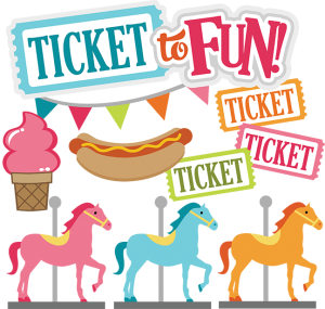 Ticket To Fun SVG carnival svg files county fair svg files amuesment park svg files for scrapbooking