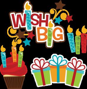Wish Big SVG birthday svg files cupcake svg file birthday present svg file cutting files for scrapbooking