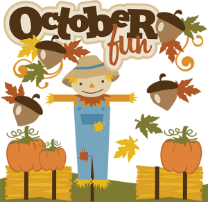October Fun SVG files fall svg files autumn svg files for scrapbooking scarecrow svg file