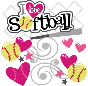 I Love Softball SVG softball svg file svg files for scrapbooking free svgs