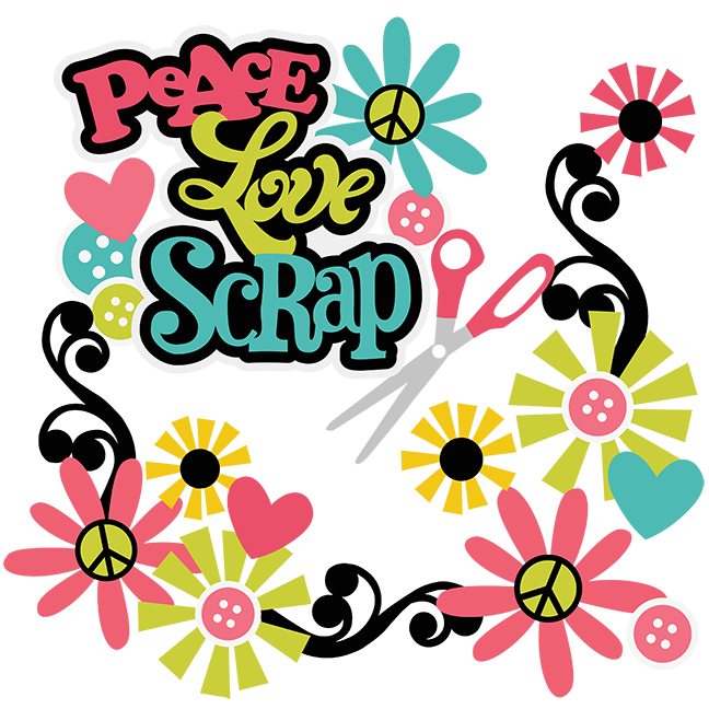 Peace Love Scrap SVG scrapbooking svg files cut files for ...