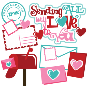 Sending All My Love To You SVG valentines day svgs for scrapbooking valentines cut files for scrapbooking